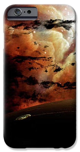 The View From A Busy Planetary System iPhone Case by Brian Christensen
