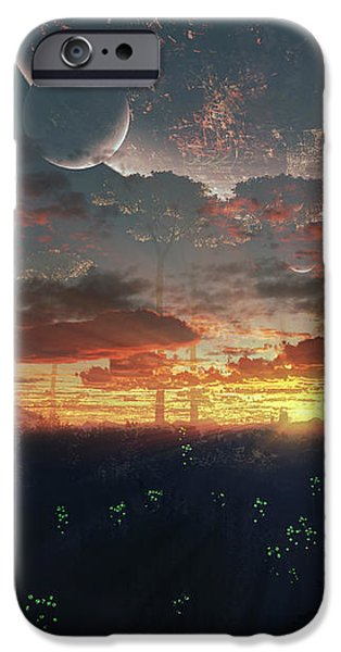 The View From An Alien Moon Towards iPhone Case by Brian Christensen
