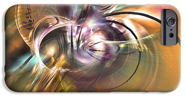 Colorful Abstract Algorithmic Contemporary iPhone Cases - The warm quiet moment iPhone Case by Sipo Liimatainen