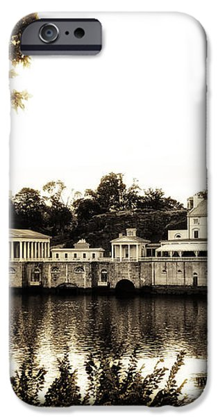 The Waterworks in Sepia iPhone Case by Bill Cannon