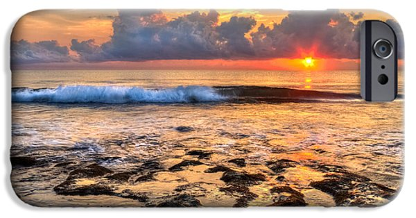 Tidal Photographs iPhone Cases - The Wave iPhone Case by Debra and Dave Vanderlaan