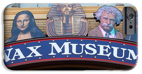Sight Seeing San Francisco iPhone Cases - The Wax Museum At Fishermans Wharf . San Francisco California . 7D14244 iPhone Case by Wingsdomain Art and Photography
