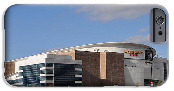 Philadelphia Phillies Stadium Digital Art iPhone Cases - The Wells Fargo Center - Philadelphia  iPhone Case by Bill Cannon