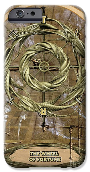 Destiny iPhone Cases - The Wheel of Fortune iPhone Case by John Edwards