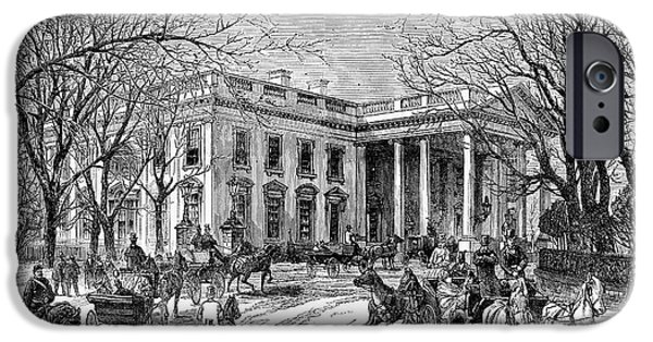 White House iPhone Cases - The White House, 1877 iPhone Case by Granger