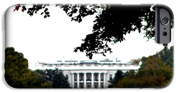 White House Digital Art iPhone Cases - The White House iPhone Case by Bill Cannon
