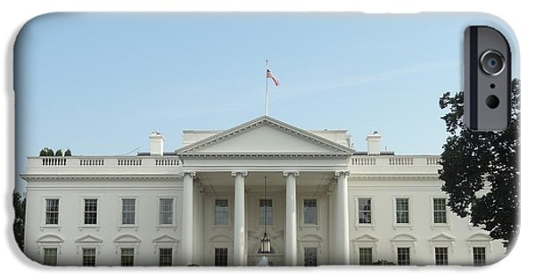 The White House Photographs iPhone Cases - The White House iPhone Case by Christopher Kerby