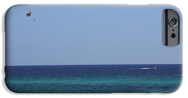 Panama City Beach iPhone Cases - The White Panama City Beach - before the Oil Spill iPhone Case by Susanne Van Hulst