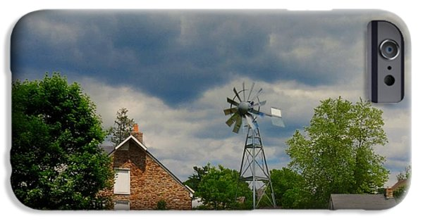 Grist Mill iPhone Cases - The Windmill iPhone Case by Paul Ward