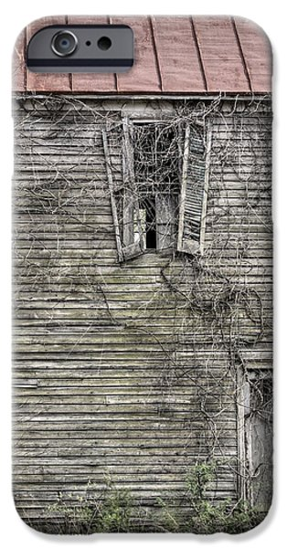 Haunted House iPhone Cases - The Window up Above iPhone Case by JC Findley