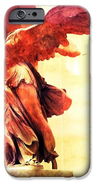 Nike Photographs iPhone Cases - The Winged Victory  iPhone Case by Marianna Mills