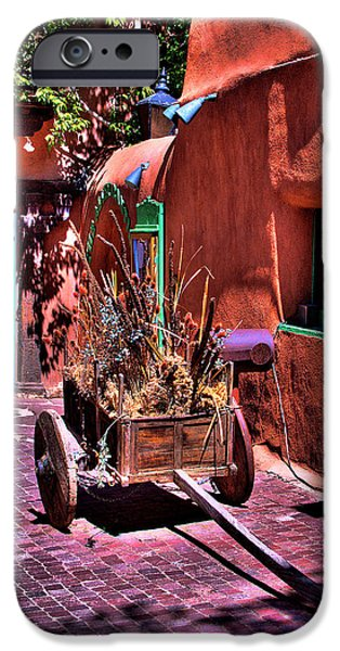 David iPhone Cases - The Wooden Cart iPhone Case by David Patterson