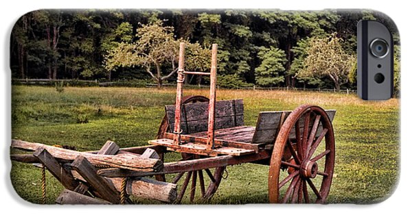 Wooden Wagons iPhone Cases - The Wooden Cart iPhone Case by Paul Ward