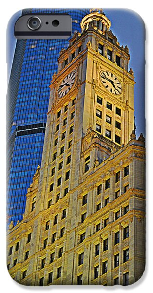 Wrigley iPhone Cases - The Wrigley Building iPhone Case by Mary Machare