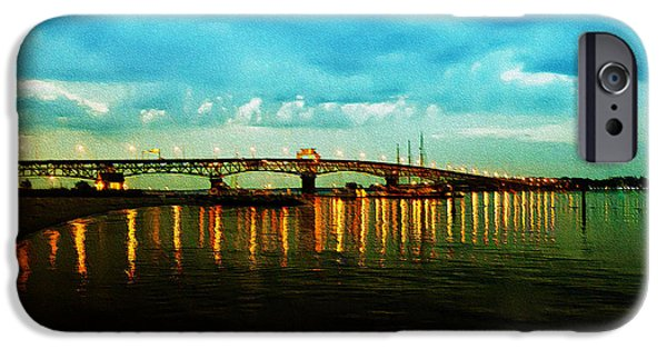 Yorktown Virginia iPhone Cases - The York River iPhone Case by Bill Cannon
