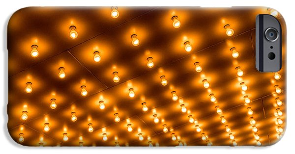 Illuminated iPhone Cases - Theater Marquee Lights in Rows iPhone Case by Paul Velgos