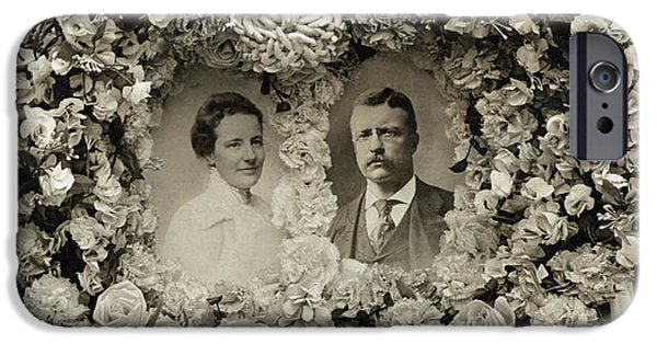 First Lady iPhone Cases - Theodore & Edith Roosevelt iPhone Case by Granger