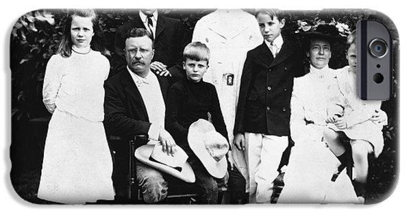 First Family iPhone Cases - Theodore Roosevelt Family iPhone Case by Granger