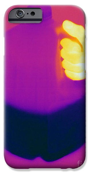 Electromagnetic Spectrum iPhone Cases - Thermogram Of Milk Jug iPhone Case by Ted Kinsman