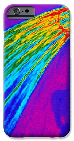 Thermogram Of Water Pouring From A Shower Head iPhone Case by Dr. Arthur Tucker