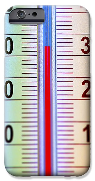 Thermometer Measuring 32 Celsius iPhone Case by Jaak Nilson
