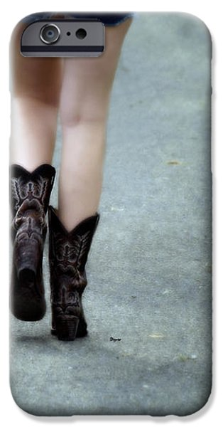 These boots are made for walking iPhone Case by Steven  Digman