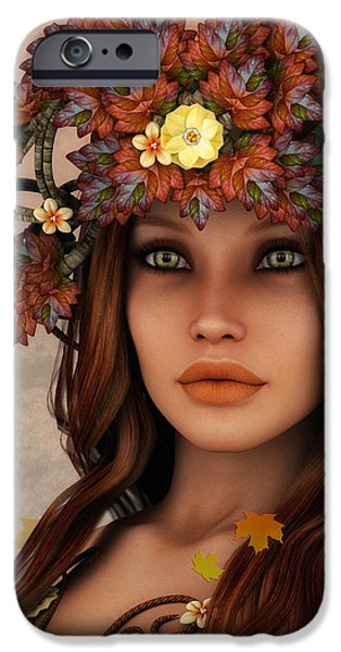 They Call Her Autumn iPhone Case by Jutta Maria Pusl
