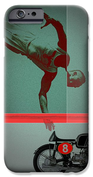 Champion iPhone Cases - They Crossed that Line iPhone Case by Naxart Studio