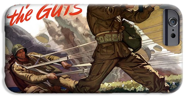 Ww2 iPhone Cases - Theyve Got The Guts iPhone Case by War Is Hell Store