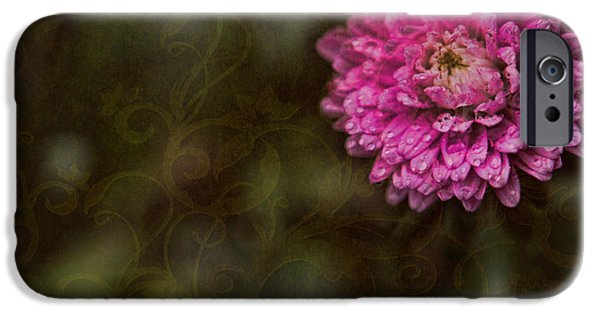 Wet Petals iPhone Cases - Think Pink iPhone Case by Bonnie Bruno