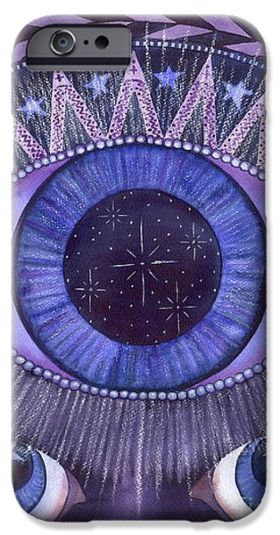 Chakra Paintings iPhone Cases - Third Eye Chakra iPhone Case by Catherine G McElroy