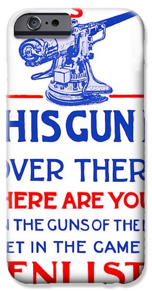 This Gun Is Over There iPhone Case by War Is Hell Store