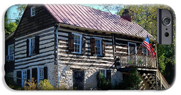 Log Cabin Digital iPhone Cases - This Old House iPhone Case by Eva Kaufman