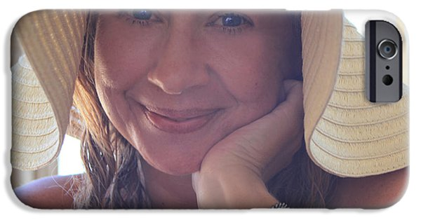 Self Portrait Photographs iPhone Cases - This Smile Was For You iPhone Case by Laurie Search