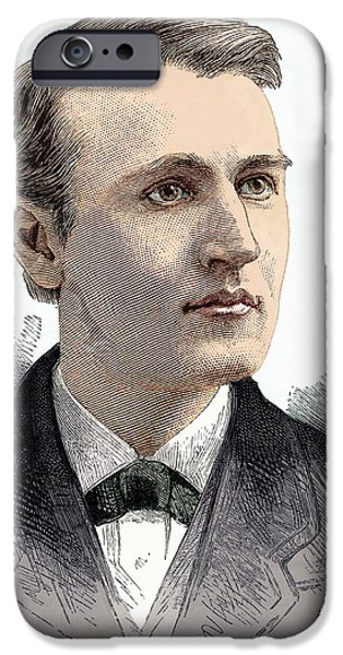 Thomas Edison, American Inventor iPhone Case by Sheila Terry