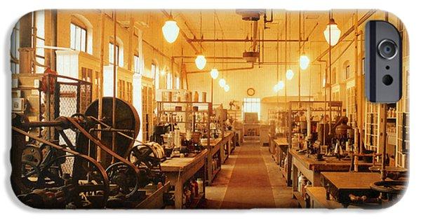 Thomas Alva Edison iPhone Cases - Thomas Edisons Laboratory iPhone Case by Science Source