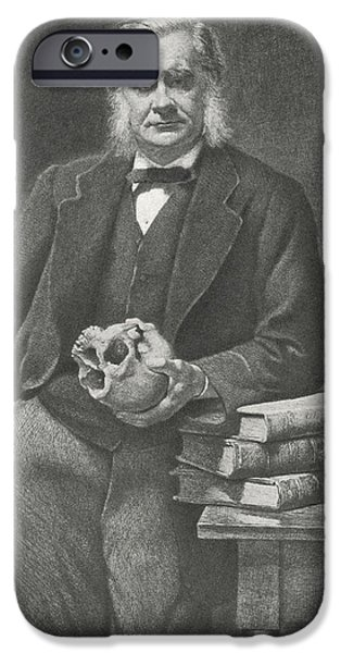 Nineteenth iPhone Cases - Thomas Huxley, British Biologist iPhone Case by Science, Industry & Business Librarynew York Public Library