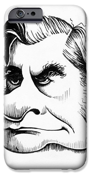 Thomas Huxley, Caricature iPhone Case by Gary Brown