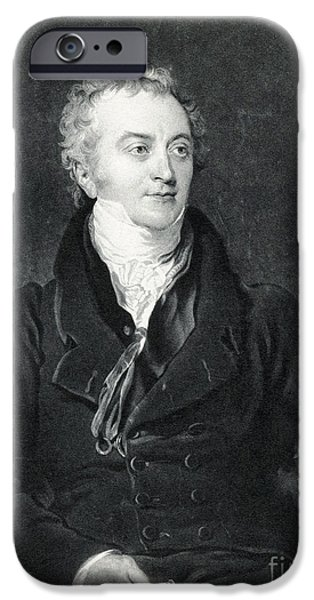 Temperament iPhone Cases - Thomas Young, English Polymath iPhone Case by Photo Researchers