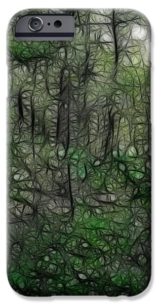 Recently Sold -  - Concord Massachusetts iPhone Cases - Thoreau Woods Fractal iPhone Case by Lawrence Christopher