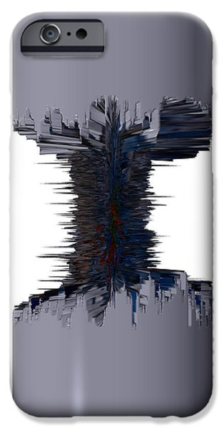 Best Sellers -  - Abstract Digital Drawings iPhone Cases - Thors dumbell iPhone Case by Robert Margetts