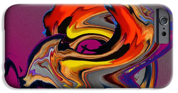 Contemporary Abstract iPhone Cases - Thoughts iPhone Case by Ketti Peeva
