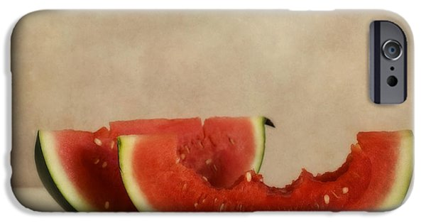 Biting iPhone Cases - Three Bites Of Summer iPhone Case by Priska Wettstein