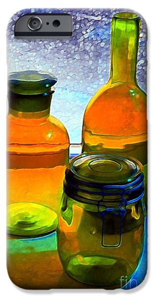 Three Bottles in Window iPhone Case by Dale   Ford