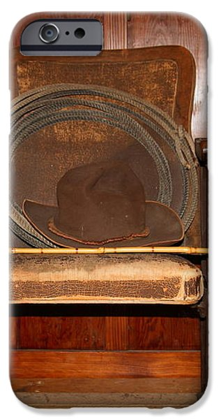 Three Hats A Lasso And A Cane At The Old Movie Theater . 7D12726 iPhone Case by Wingsdomain Art and Photography