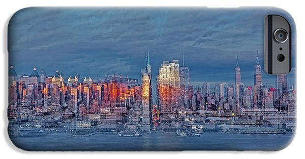 Empire State iPhone Cases - Three Times New York City iPhone Case by Susan Candelario