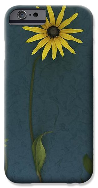Three Yellow Flowers iPhone Case by Deddeda