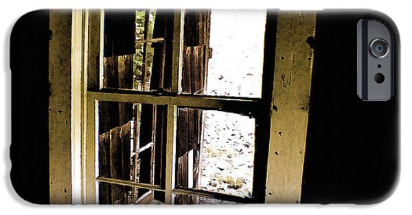Cabin Window iPhone Cases - Through the Looking Glass iPhone Case by Cris Hayes