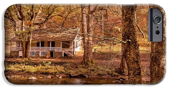 Old Barn Photo Photographs iPhone Cases - Through the Woods iPhone Case by Debra and Dave Vanderlaan