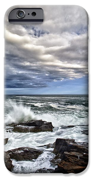 Maine iPhone Cases - Thunder Hole iPhone Case by Rick Berk